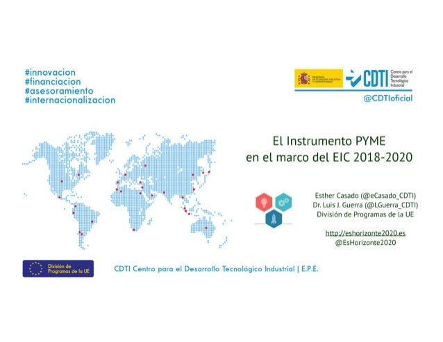 20180424 Instrumento PYME en el entorno del EIC