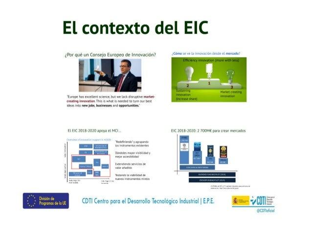 20180424 Instrumento PYME en el entorno del EIC Slide 2