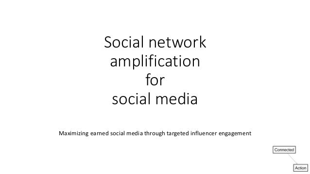 Social network amplification for social media Maximizing earned social media through targeted influencer engagement