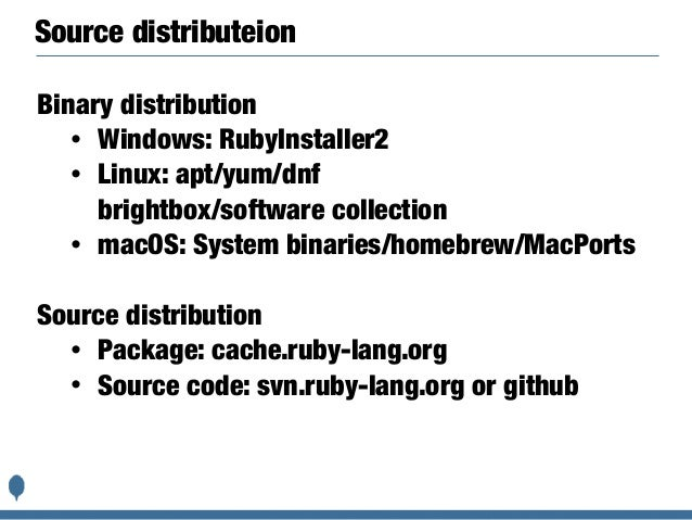 How to distribute Ruby to the world