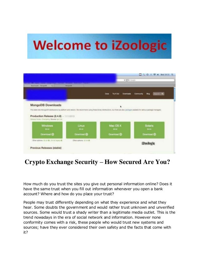 Crypto Exchange Security - how secured are you ?