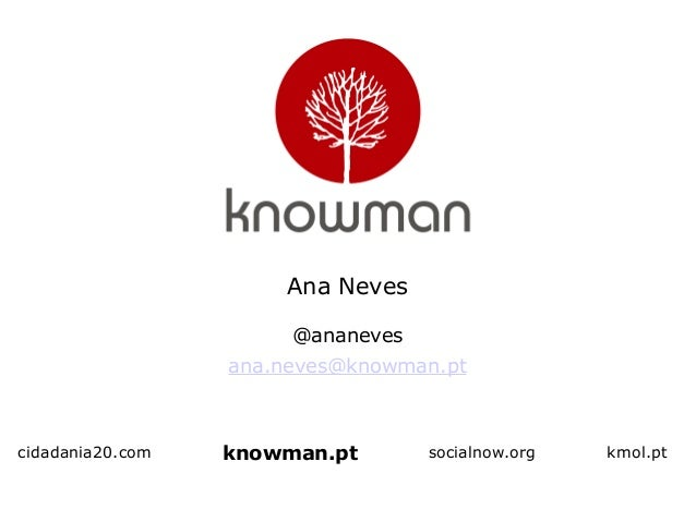 cidadania20.com Ana Neves @ananeves ana.neves@knowman.pt socialnow.org kmol.ptknowman.pt