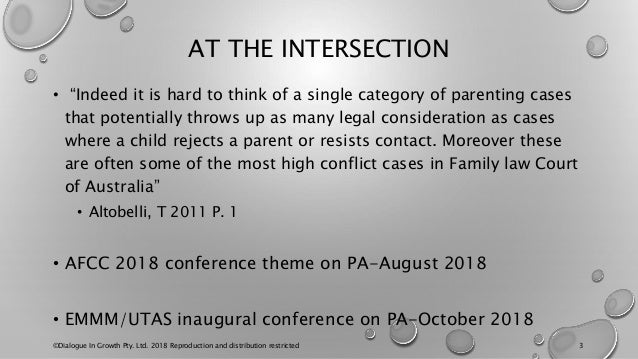 """AT THE INTERSECTION • """"Indeed it is hard to think of a single category of parenting cases that potentially throws up as ma..."""