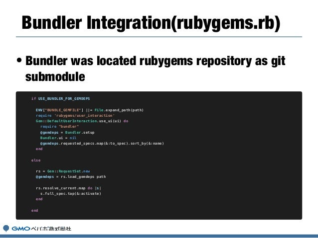 • Why hard way to test RubyGems on Travis? • RVM upgrade RG and Bundler automatically. • The end-user maybe upgrade RG and...