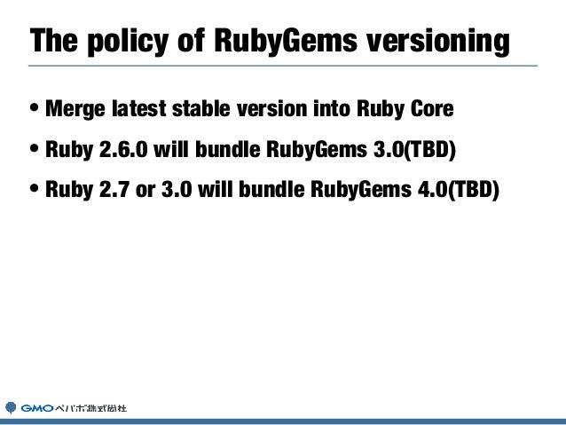 RubyGems 3.0
