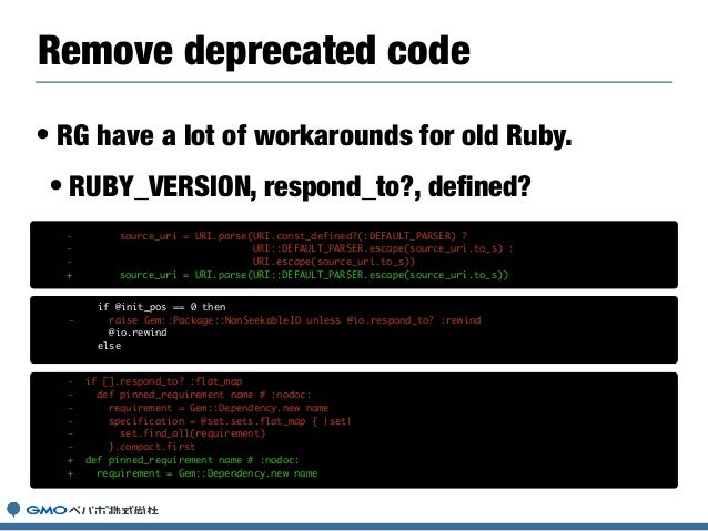 • How works with `gem update —system`? • lib/rubygems/commands/update_command.rb rubygems-update.gemspec def execute if op...