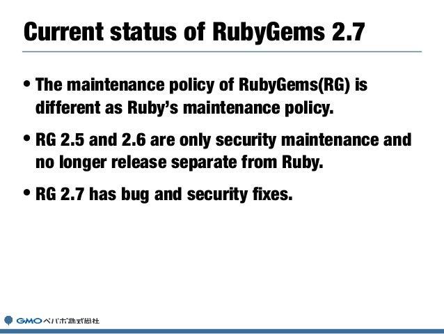 • Bundler was located rubygems repository as git submodule Bundler Integration(rubygems.rb) if USE_BUNDLER_FOR_GEMDEPS ENV...