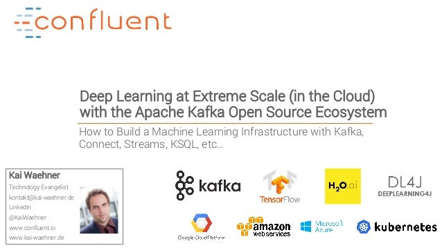 1Confidential Deep Learning at Extreme Scale (in the Cloud) with the Apache Kafka Open Source Ecosystem Kai Waehner Techno...