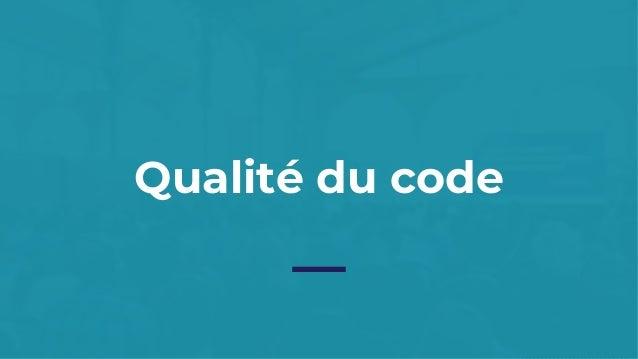 Qualité du code