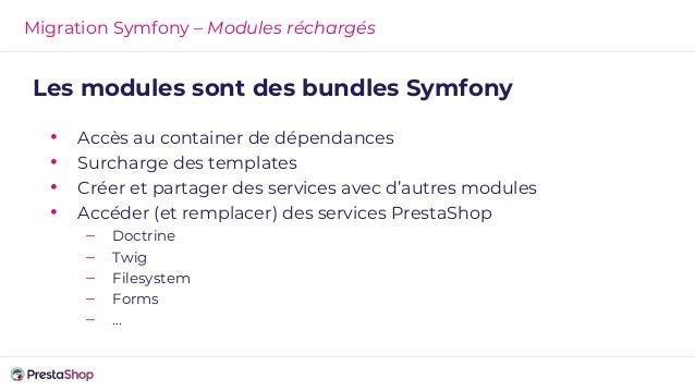 Migration Symfony - outils de debug
