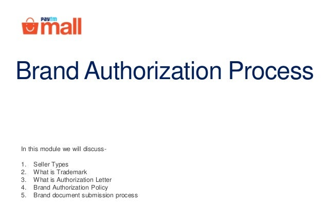 Brand Authorization Process In This Module We Will Discuss 1 Seller Types 2