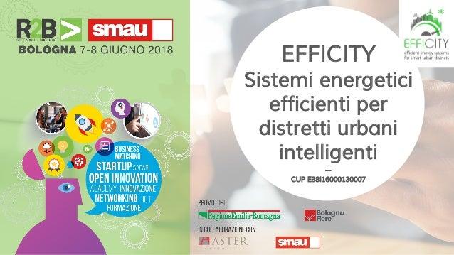 EFFICITY Sistemi energetici efficienti per distretti urbani intelligenti -- CUP E38I16000130007