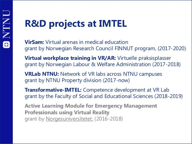 IMTEL research group at NTNU
