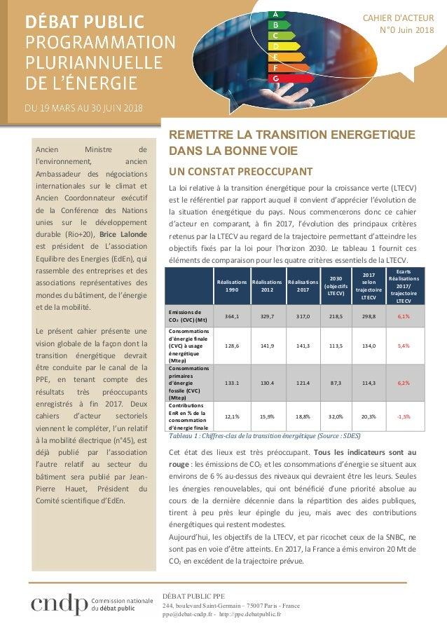 DÉBAT PUBLIC PPE 244, boulevard Saint-Germain – 75007 Paris - France ppe@debat-cndp.fr - http://ppe.debatpublic.fr  __ RE...