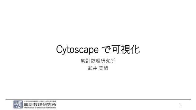 Cytoscape で可視化 統計数理研究所 武井 美緒 1