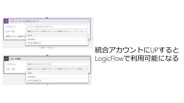 統合アカウントにUPすると LogicFlowで利用可能になる