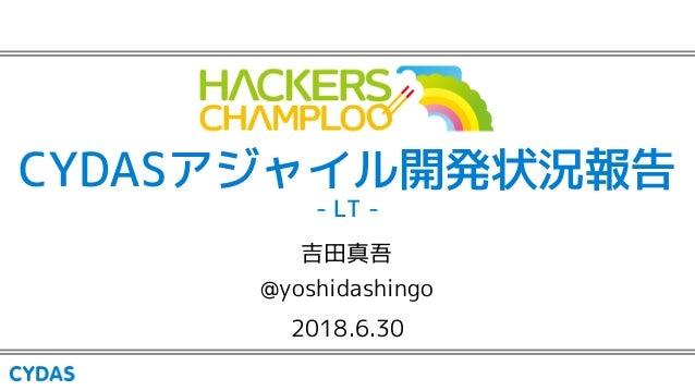CYDASアジャイル開発状況報告 - LT - 2018.6.30 吉田真吾 @yoshidashingo