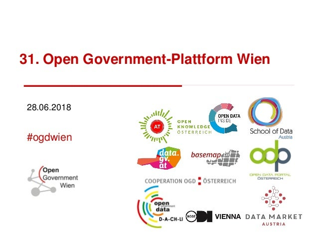 31. Open Government-Plattform Wien 28.06.2018 #ogdwien