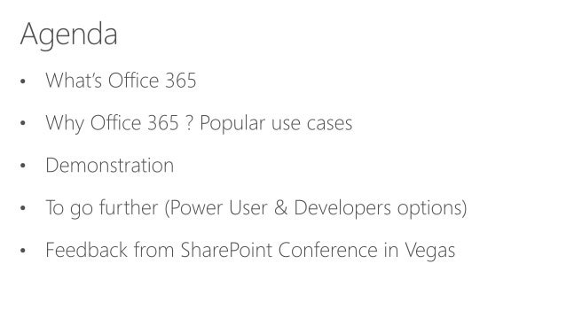 Monaco User Group - Office 365 Overview Slide 2