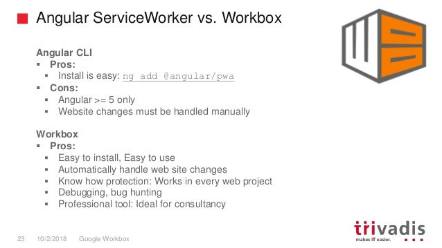 TechEvent Advanced Service Worker / PWA with Google Workbox