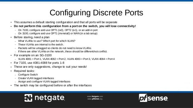 Configuring Netgate Appliance Integrated Switches on pfSense 2 4 4 - …
