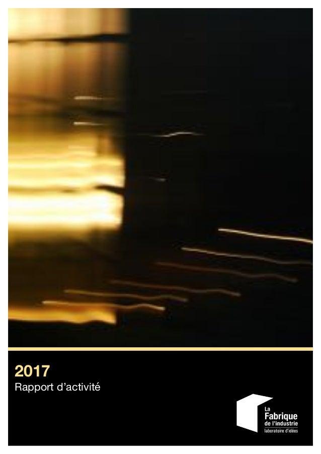 2017 Rapport d'activité
