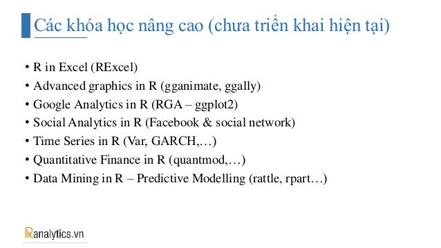 Giới thiệu về khóa học với R - Ranalytics vn