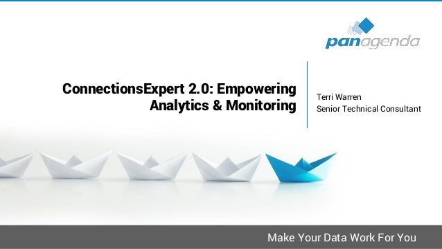Make Your Data Work For You ConnectionsExpert 2.0: Empowering Analytics & Monitoring Terri Warren Senior Technical Consult...
