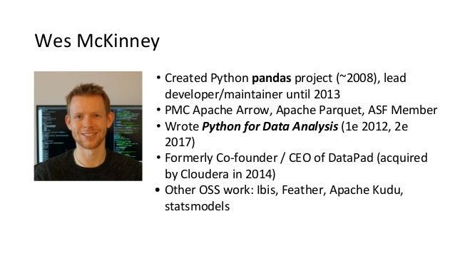 Apache Arrow: Cross-language Development Platform for In-memory Data Slide 2