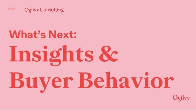 Powered by What's Next: Insights & Buyer Behavior