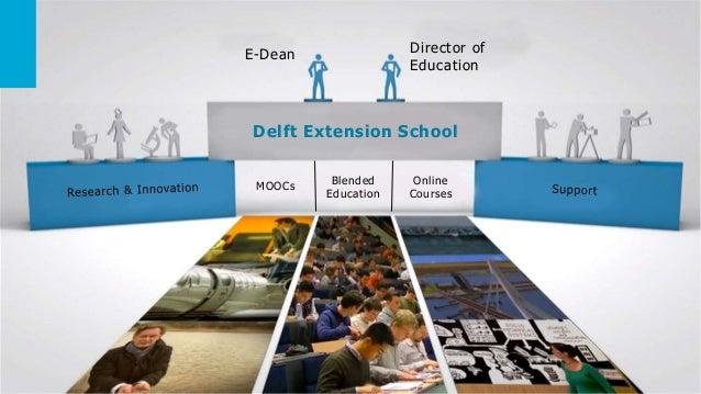 E-Dean Director of Education Delft Extension School MOOCs Blended Education Online Courses