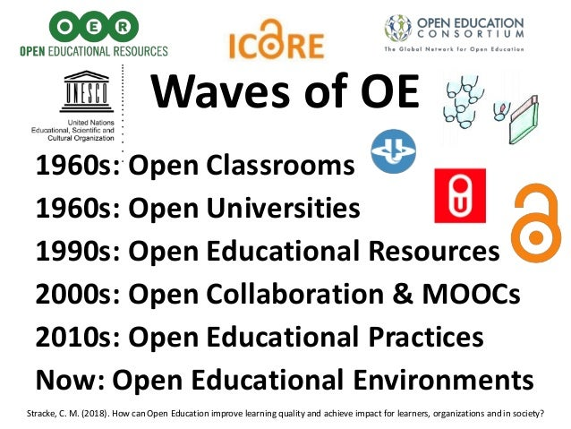 1960s: Open Classrooms 1960s: Open Universities 1990s: Open Educational Resources 2000s: Open Collaboration & MOOCs 2010s:...