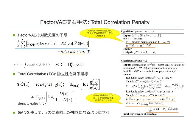 DL輪読会]Disentangling by Factorising