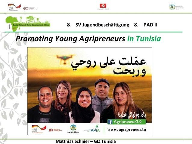 1 Promoting Young Agripreneurs in Tunisia & SV Jugendbeschäftigung & PAD II Matthias Schnier – GIZ Tunisia
