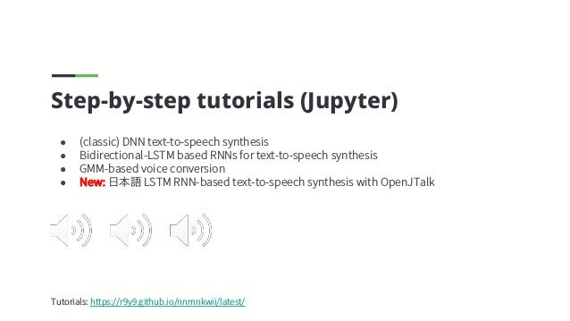 nnmnkwii: Library to build speech synthesis systems disigned