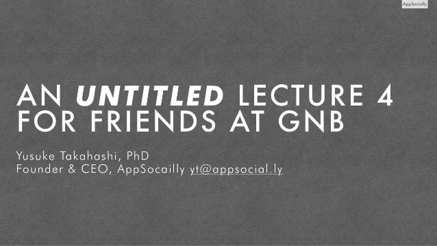 Invited Lecture at GnB Accelerator in Jakarta
