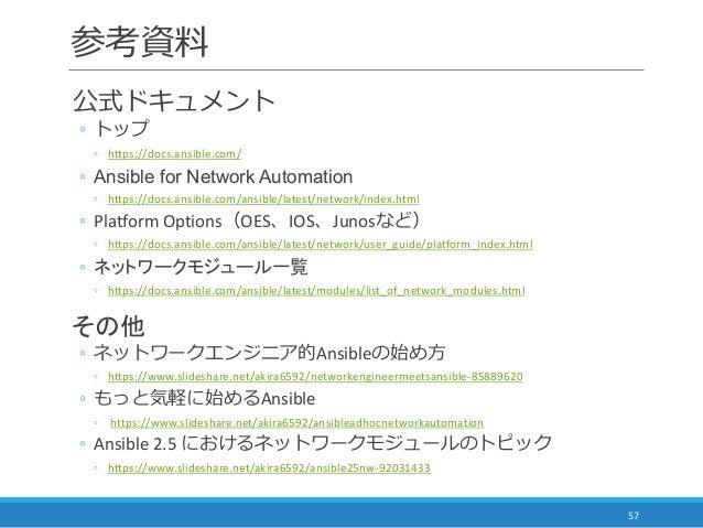 Ansible ではじめるネットワーク自動化