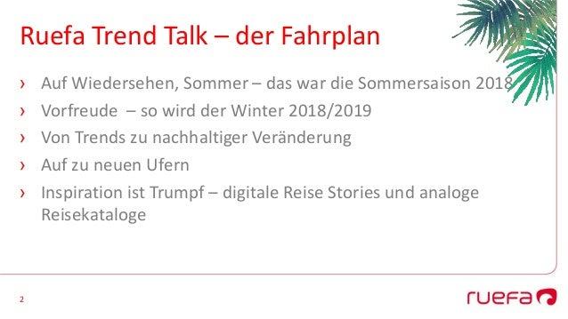 Ruefa Trend Talk 2018/19 Slide 2