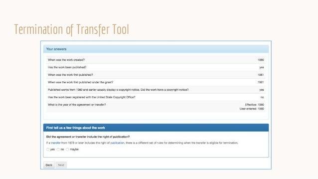 Termination of Transfer Tool