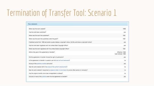 Termination of Transfer Tool: Scenario 1