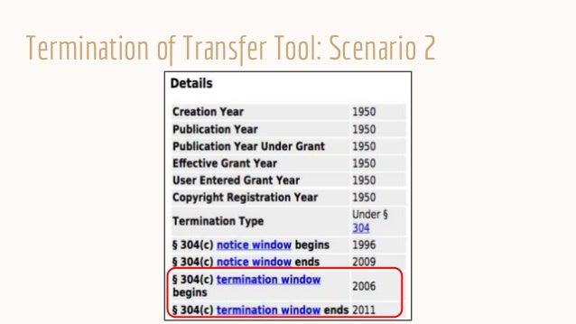 Termination of Transfer Tool: Scenario 2