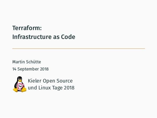 Terraform – Infrastructure as Code (Kielux'18)