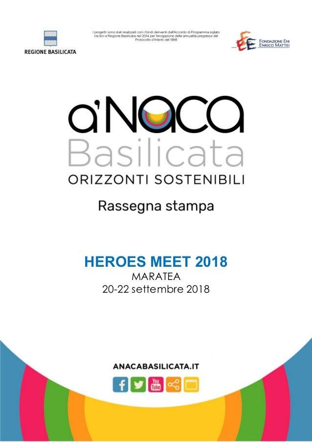 HEROES MEET 2018 MARATEA 20-22 settembre 2018