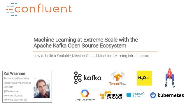 1Confidential Machine Learning at Extreme Scale with the Apache Kafka Open Source Ecosystem Kai Waehner Technology Evangel...