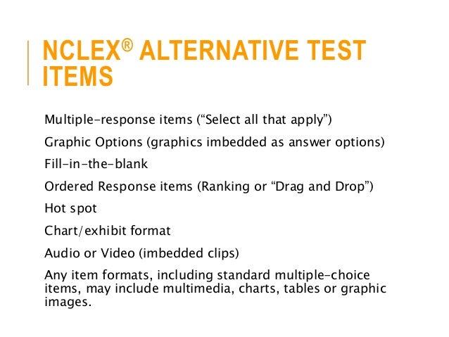 Creating Test Items Using NCLEX® Alternative Item Types