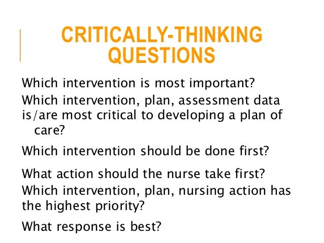 nclex critical thinking questions