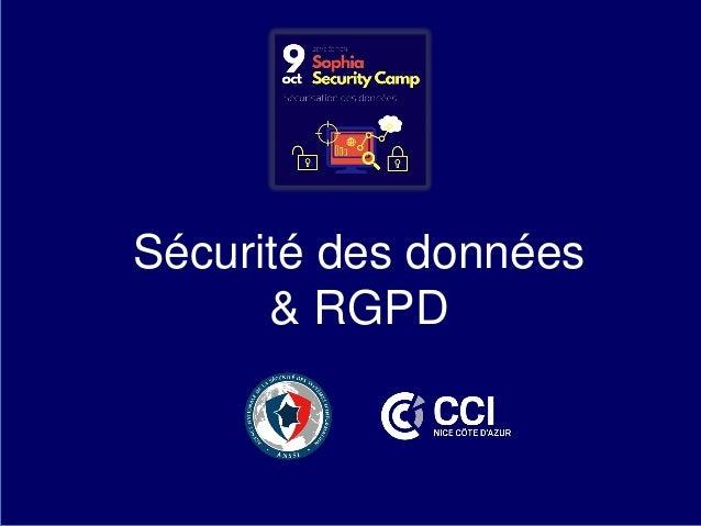 Sécurité des données & RGPD