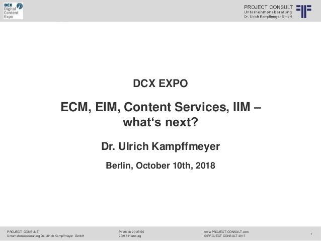 r ternehmensberatung Dr. Ulrich Kampffmeyer GmbH CONSULT 2017 PROJECT CONSULT Unternehmensberatung Dr. Ulrich Kampffmeyer ...