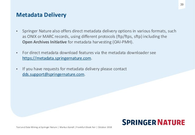 Text and Data Mining at Springer Nature