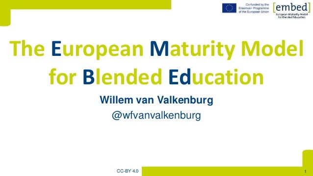 [Willem van Valkenburg @wfvanvalkenburg The European Maturity Model for Blended Education CC-BY 4.0 1